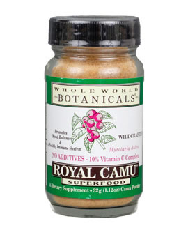 Whole World Botanicals Royal Camu Dark Whole Fruit Powder